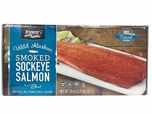 Northwest Salmon Pacific - Trident Wild Alaskan Smoked Sockeye Salmon - 567g/20 Oz