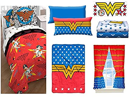 Wonder Woman Body Pillow.Amazon Com Franco Manufacturing Wonder Woman 15pc Bed In A