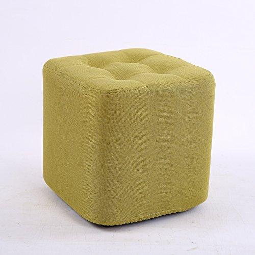 STJK$BMJW Wooden Sofa Stool Square Stool Shoes Stool Short Living Room Tea Table Stool Children (29Cm29Cm) Green