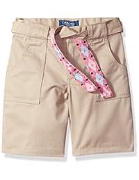 Cherokee Girls Uniform Twill Short with Belt