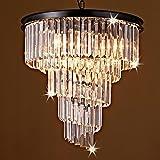 Saint Mossi Modern K9 CrystalBar Lantern-shaped Raindrop Chandelier Lighting Flush mount LED Ceiling Light Fixture Pendant Lamp for Dining Room Bathroom Bedroom Livingroom 9 E12 Bulbs Required H20 D20