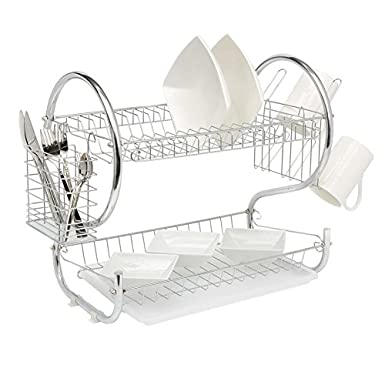 Amazon.com: Escurridor de platos, 2 niveles de hierro ...