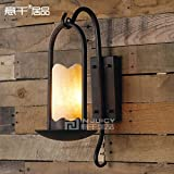 Injuicy Lighting Vintage Edison American Country RH LOFT Marble Basket Wall Lamp Wrought Iron Light Yard Dinning Room Industrial