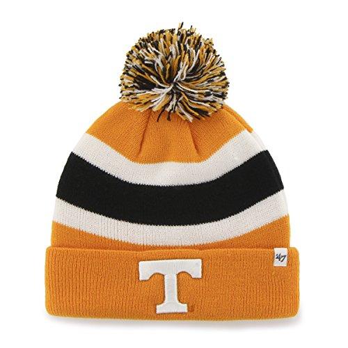 ('47 NCAA Tennessee Volunteers Breakaway Cuff Knit Hat, One Size Fits Most, Vibrant Orange)