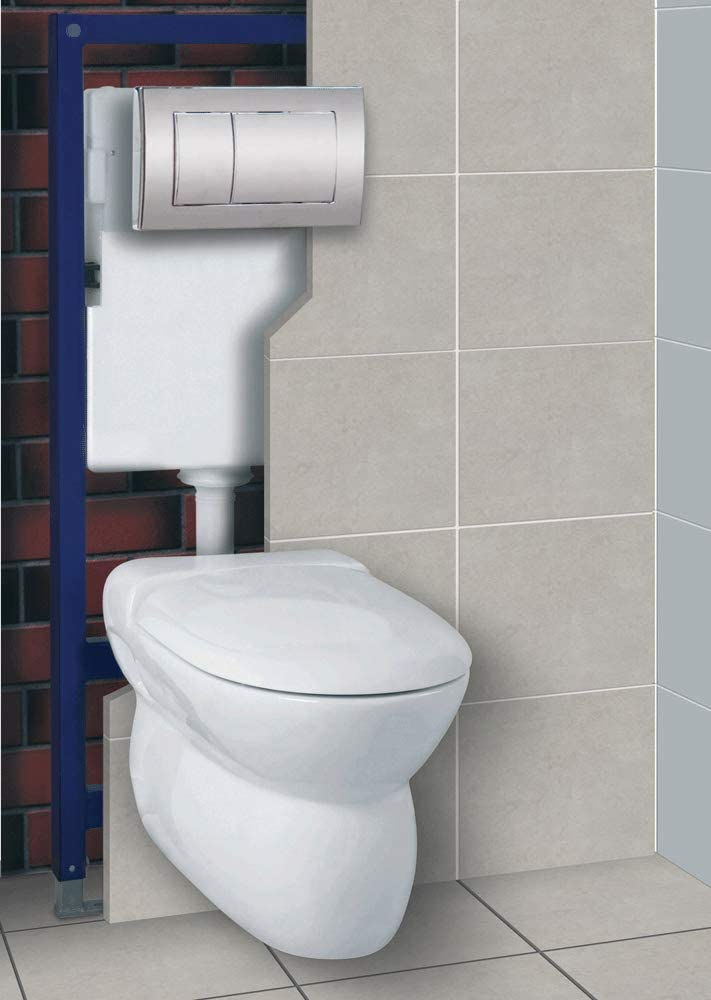 Adjustable Wall Hung Pan Frame Cistern and Dual Flush Plate 3-1 Concealed Toilet Set Frame