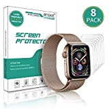 [8 Pack] AnoKe for Apple Watch iWatch 40mm/38mm Screen Protector (Series 4 /Series 3/2/1), [Not Glass] Liquid Skin [Max Coverage] Curved Edge Case Band Friendly Lifetime Replacement Warranty
