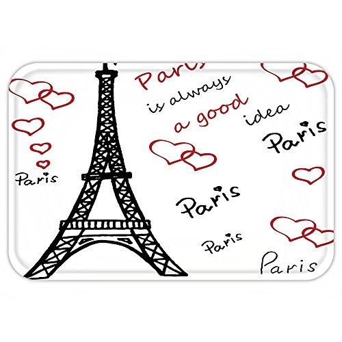 Kisscase Custom Door MatEiffel Tower Decor Eiffel Tower PariIAlwayA Good Idea Tourism LocationSweet Love (Original Halloween Costume Ideas College)