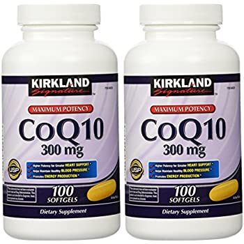Amazon.com: Kirkland Signature COQ10 100 Softgels, 300 mg ...
