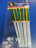 """Sports and Tailgating MLB Party Oakland Athletics Plastic Flags Decoration, Plastic, 6"""" x 4"""", Pack of 12"""