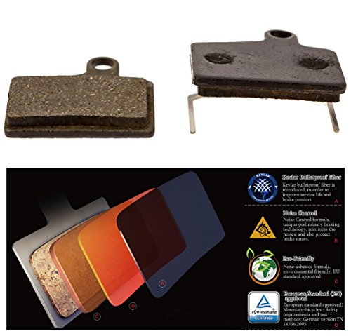 Hayes Dyno Stroker Ryde Disc Brake Pads, Best Quality MTB Bike Bicycle Replacement Brake Pads By Cooma Provide Quiet Smooth Braking Long Life Kevlar Resin (Hayes Stroker)