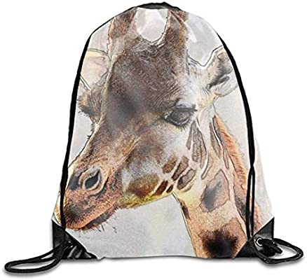 ERCGY Giraffe Face Drawstring Backpack Beam Mouth Yoga ...