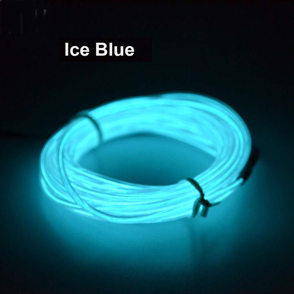 Tpingfe Flexible LED Light EL Wire String Strip Rope Glow Decor Neon Lamp USB Controller (B)