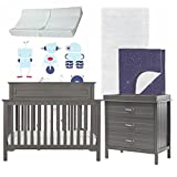 Galaxy Inspired 5 Piece Nursery Furniture Set in Gray & Blue