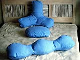 3 Piece Pillow Cover Set: Backrest, Head and Body Pillow Covers - 100% Cotton Patent Pending
