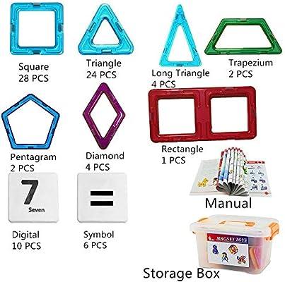 10PCS Magnetic Building Blocks Educational Children Kids DIY Toys diamonds