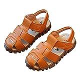 lakiolins Toddler Boys Closed Toe Anti-Slip Adventure Seekers Beach Walking Flat Shoes Brown Size 8M