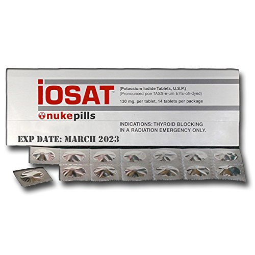 10-Pack IOSAT Potassium Iodide Tablets, MARCH 2023 exp date (freshest stock available) - 140 count by Nukepills