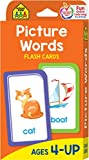 img - for School Zone - Picture Words Flash Cards - Ages 4 and Up, Pre K and Up, Word-Picture Recognition, Hand-Eye Coordination, and More book / textbook / text book
