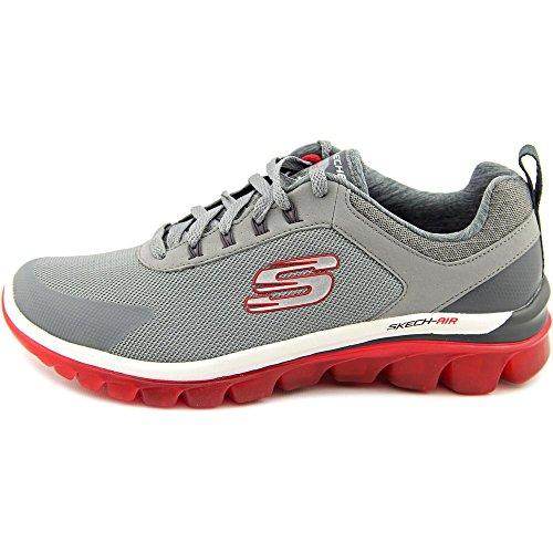 Skechers Mens Air 2.0 - Chaussure Dentrainement Pour Les Temps Rapides Gris Clair / Rouge
