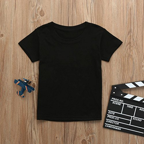 Sunbona Daddy&Me Toddler Baby Boys Matching Letter Print Short Sleeve T Shirt Blouse Tops Family Clothes