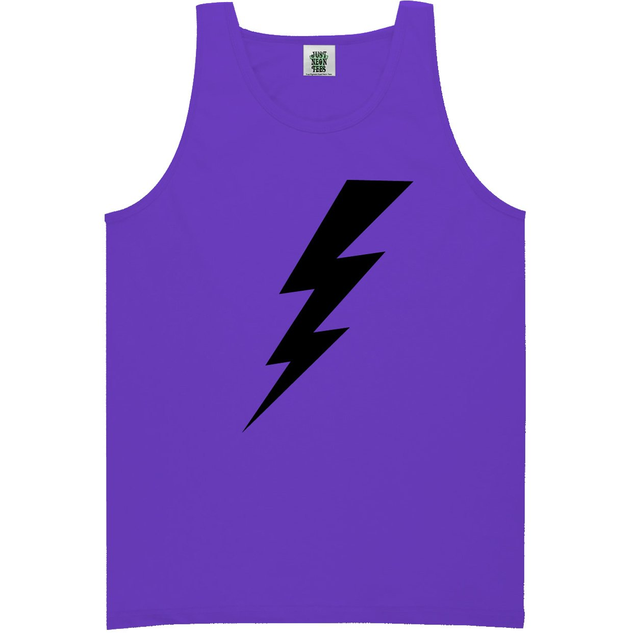 6 Bright Colors Youth Lightning Bolt Bright Neon Tank Top