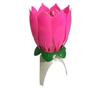 ValeR Romantic Musical Lotus Rotating Flower Happy Birthday Party