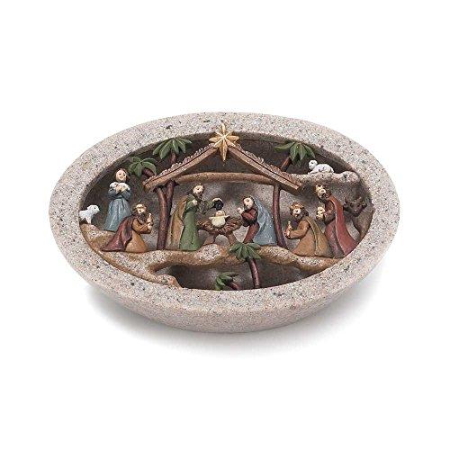 Dicksons Nativity LED Lighted 5 x 3.5 Resin Stone Christmas Nativity Scene Figurine (Scene Nativity Stone)