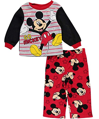MICKEY MOUSE CLUBHOUSE DISNEY Toddler's Fleece Pajamas Sleepwear Set