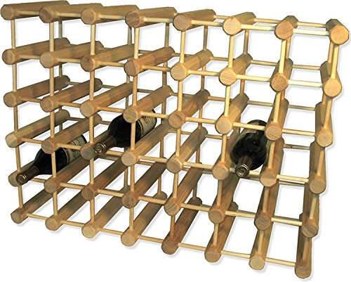 J.K. Adams Ash Wood 40-Bottle Wine Rack, Natural made in New England