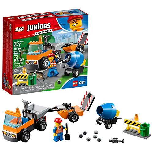 LEGO Juniors/4+ Road Repair Truck 10750 Building Kit (73 Piece)