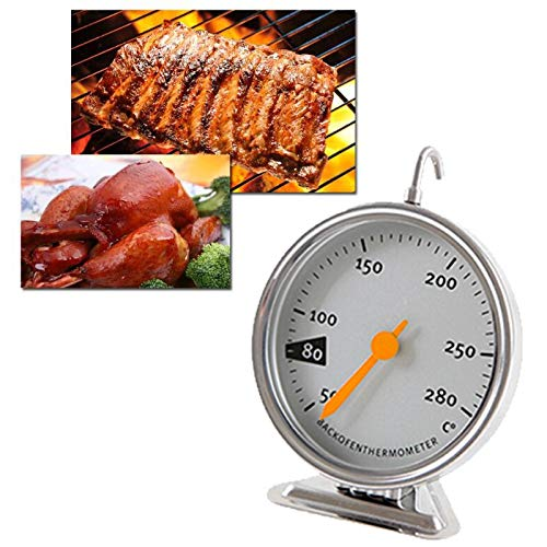 Littleice Oven Thermometer Food Meat Temperature Stand Up Dial Oven Thermometer Stainless Steel Gauge by Littleice (Image #3)