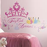 RoomMates RMK1580GM Disney Princess Crown Peel and Stick Giant Wall Decal