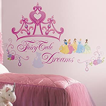 Genial Roommates Rmk1580Gm Disney Princess Crown Peel U0026 Stick Giant Wall Decal