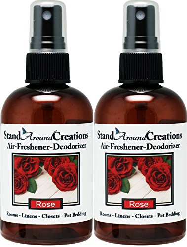 Set of 2 - Concentrated Spray For Room / Linen / Room Deodorizer / Air Freshener - 4 fl oz - Scent - Rose: A garden of red roses blooms from this artistically designed floral bouquet. (Red Rose Spray)