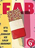 Wiscombe FAB ice lolly cafe seaside beach vintage metal sign plaque