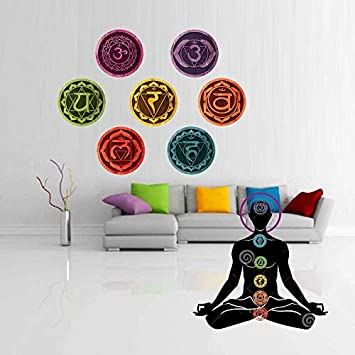Buy Gadgets Wrap Color Mandala Chakras Yoga Meditation Symbol Wall Decals Art For Removable Room Wallpaper Home Bedroom Wall Decor Online At Low Prices In India Amazon In