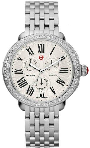 69ad86a10dc2 Michele Ascalon Diamond Chronograph Stainless Steel Womens Watch  MWW21A000001  Amazon.co.uk  Watches