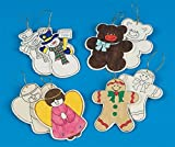 Unfinished Wooden Christmas Ornaments (Pack of 48)