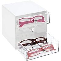 mDesign Juego de 2 Cajas para Gafas