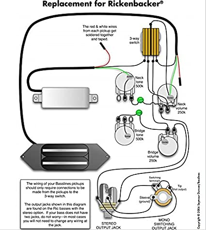 rickenbacker bass wiring harness wiring diagramduncan srb 1 pickup set for rickenbacker bass guitar 920d ric b