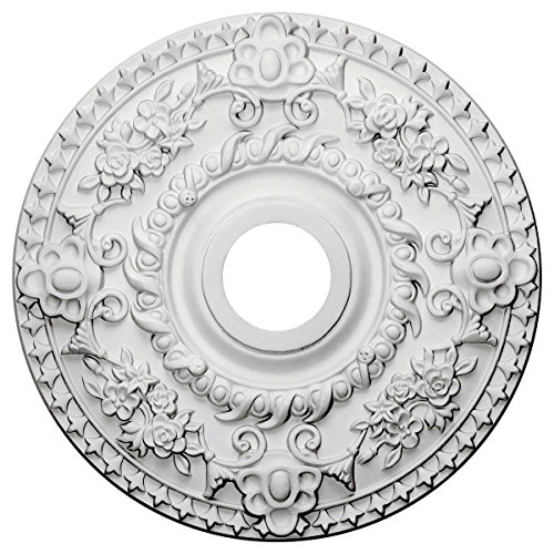 (China by WI Ceiling Medallion 18-inch Round with Rich Details)