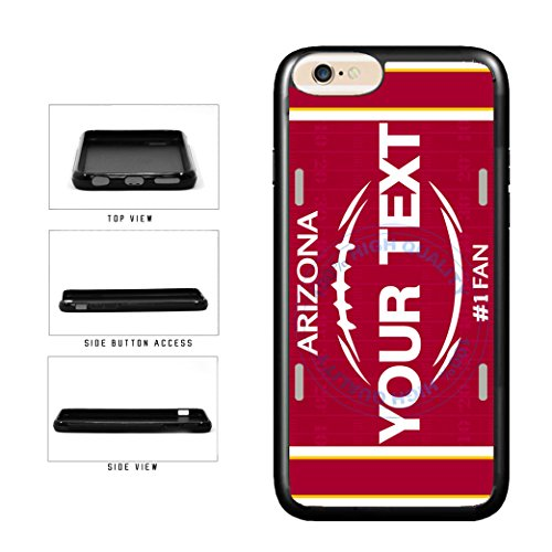 BleuReign(TM) Personalized Custom Name Football Arizona License Plate TPU RUBBER SILICONE Phone Case Back Cover For Apple iPhone 7