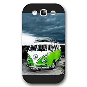 UniqueBox Customized Black Frosted Samsung Galaxy S3 Case, VW Minibus Samsung S3 case, Only fit Samsung Galaxy S3