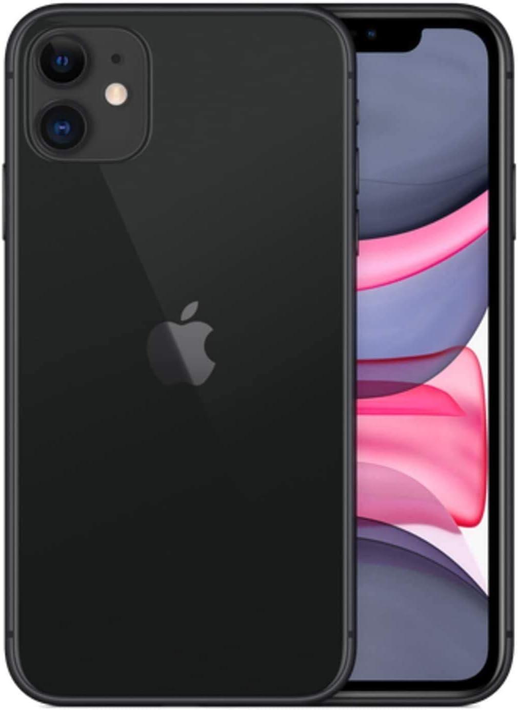 Apple iPhone 11, 128GB, Black - Fully Unlocked (Renewed)