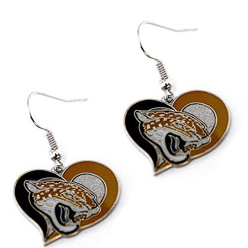 NFL Jacksonville Jaguars Swirl Heart Earrings