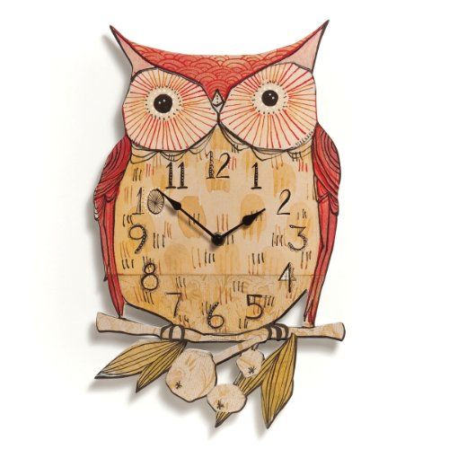 Demdaco Owl Wall Clock