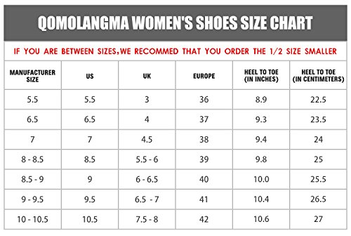 Pictures of QOMOLANGMA Women's Waterproof Wide Hiking Shoes W91501 3