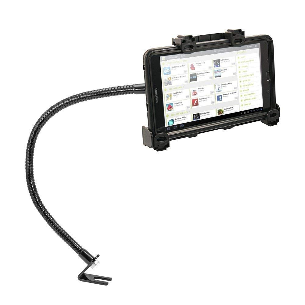 Tablet Car or Truck Mount, Premium Seat Bolt Key Lock Tablet Car Holder for Samsung Galaxy Tab A E 5se, iPad Mini, iPad PRO (All 7-10'') Tablets w/Anti-Vibration 23'' Gooseneck (with or Without case)