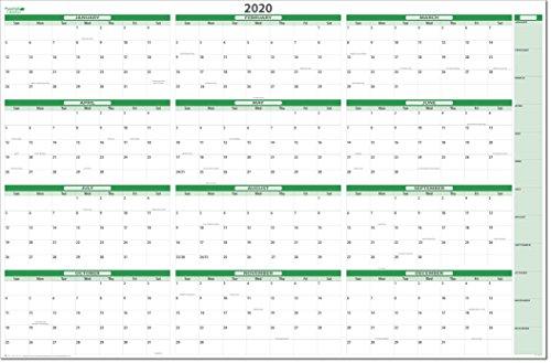 (Earth Green 2020 Dry-Erase Wall Calendars 38 x 58 (MA-GR))