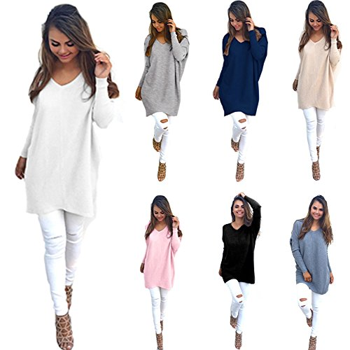 Manches Lache Hauts Automne Casual Longues Beige Minetom Col Pull Vrac Pullover Blouse V Tricots Femmes Cavalier Chemisier 6x454zwntq